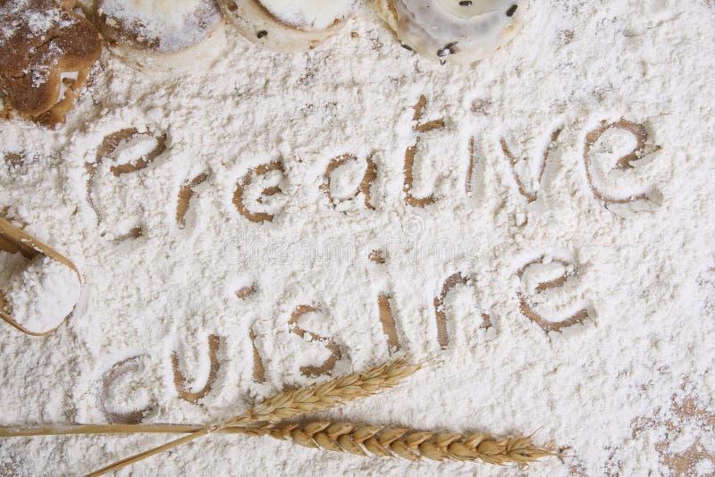 Fondo creativo de la cocina imagen de archivo libre de regalías