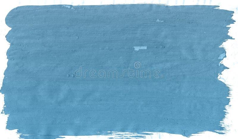 Fondo creativo de la pintura de la acuarela de la textura del cepillo azul, poniendo letras a bosquejo del libro de recuerdos ilustración del vector