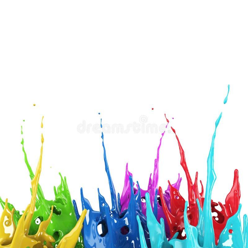 Fondo creativo del chapoteo colorido de la pintura libre illustration