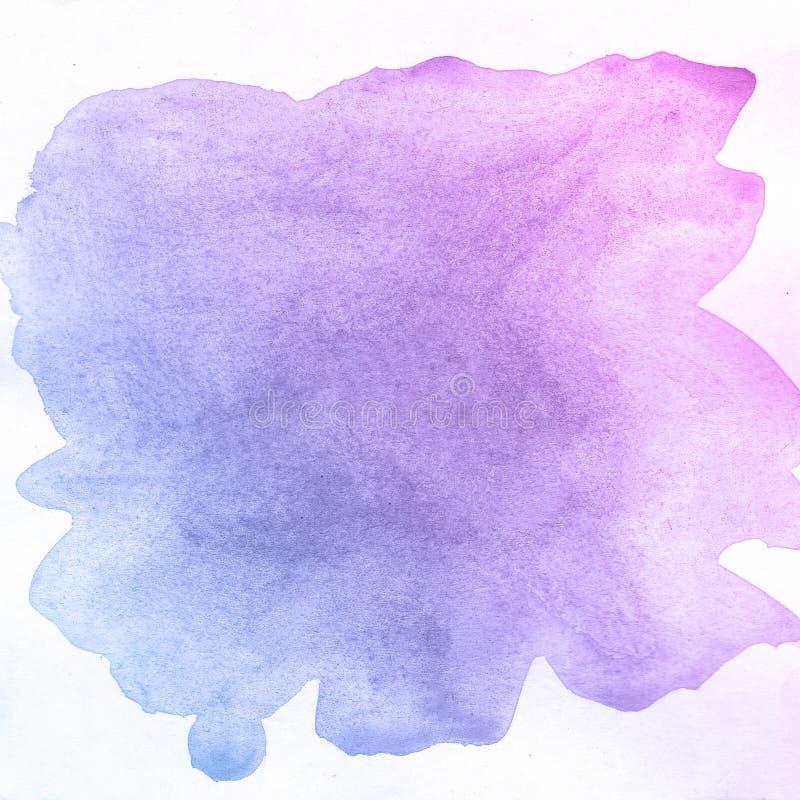 Fondo creativo della pittura dell'acquerello di struttura punk e blu, bello pianeta royalty illustrazione gratis
