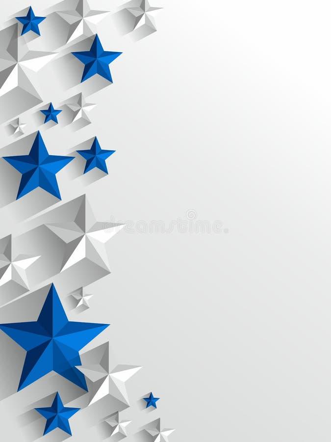 Fondo creativo delle stelle illustrazione vettoriale