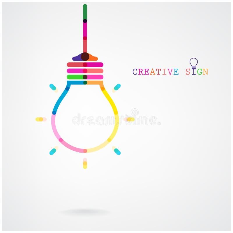 Fondo creativo di concetto di idea della lampadina illustrazione di stock