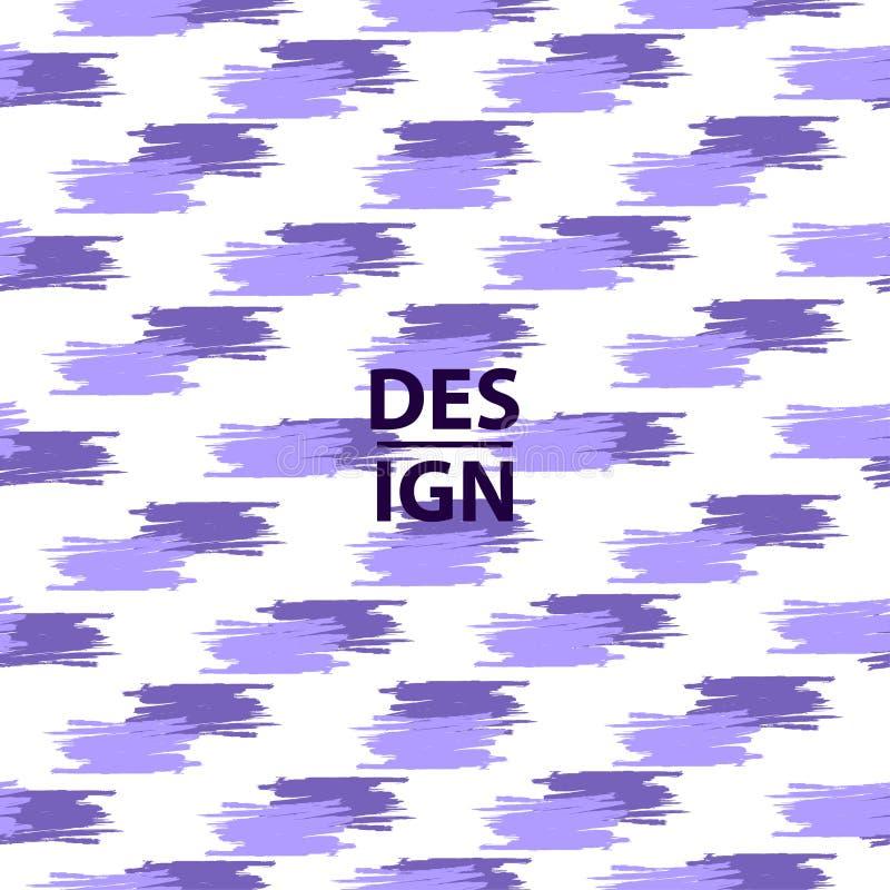 Fondo creativo púrpura La violeta raya el modelo inconsútil Tren stock de ilustración