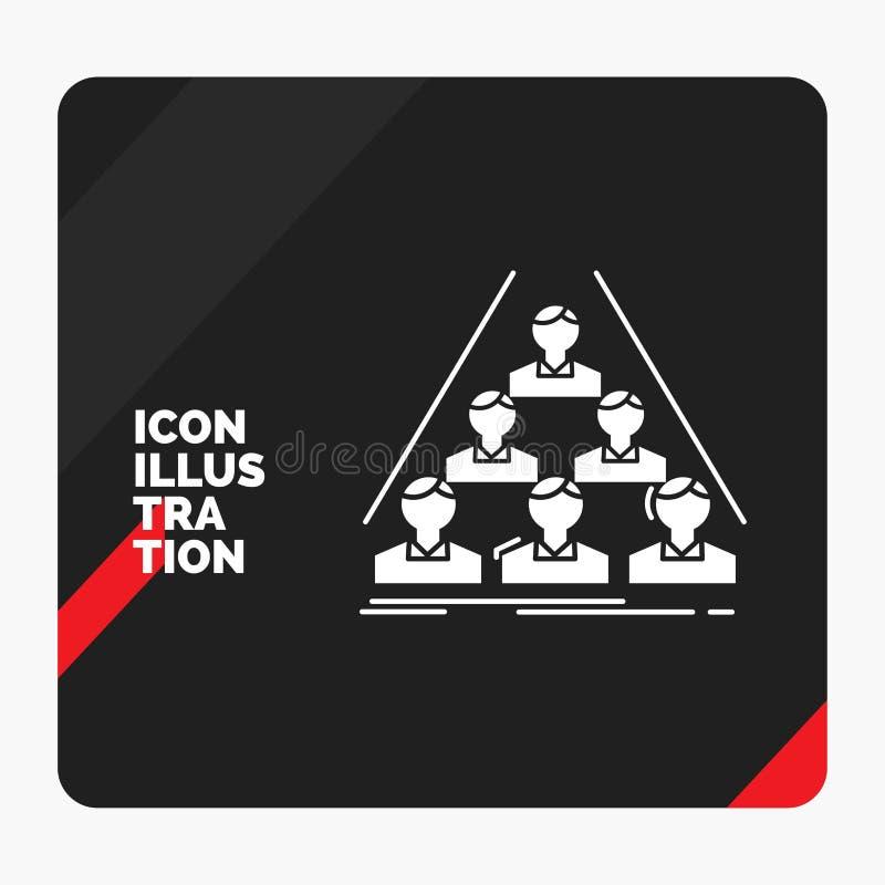Fondo creativo rojo y negro para el equipo, estructura, estructura, negocio de la presentación, haciendo frente al icono del Glyp libre illustration