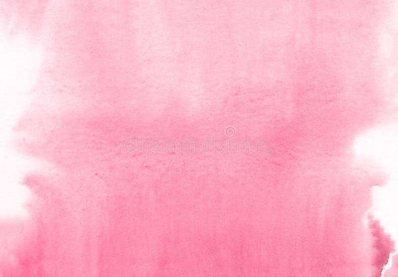 Fondo creativo rosado de la textura de la acuarela de la flor, planeta creativo hermoso stock de ilustración