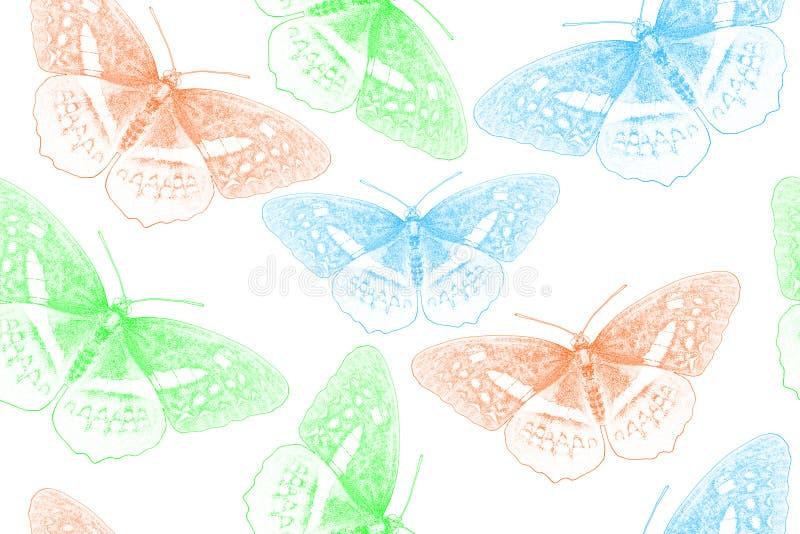 Fondo creato dalla farfalla fotografie stock