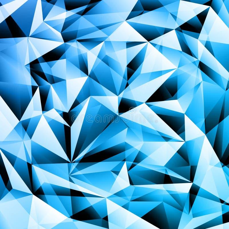 Fondo cristalino abstracto stock de ilustración