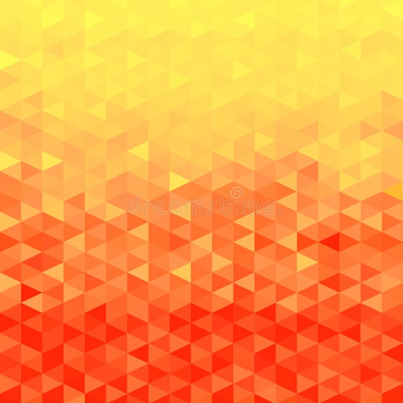 Fondo cristalino anaranjado Modelo del triángulo Fondo anaranjado libre illustration