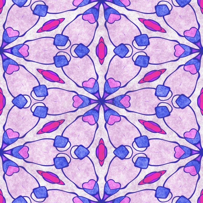 Fondo cristalino del copo de nieve Adornado incons?til de la geometr?a stock de ilustración