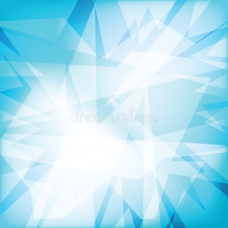 Fondo cristalino futuristy abstracto ilustración del vector