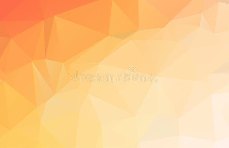 Fondo cristalino poligonal bajo anaranjado brillante Modelo triangular del pol?gono Ejemplo polivin?lico bajo del vector Contexto libre illustration