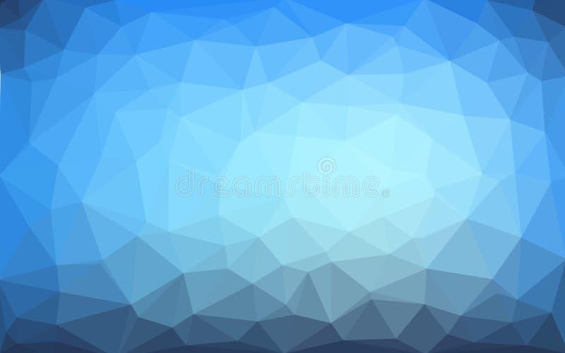 Fondo cristalino polivinílico bajo del vector azul claro Dise?o del pol?gono stock de ilustración