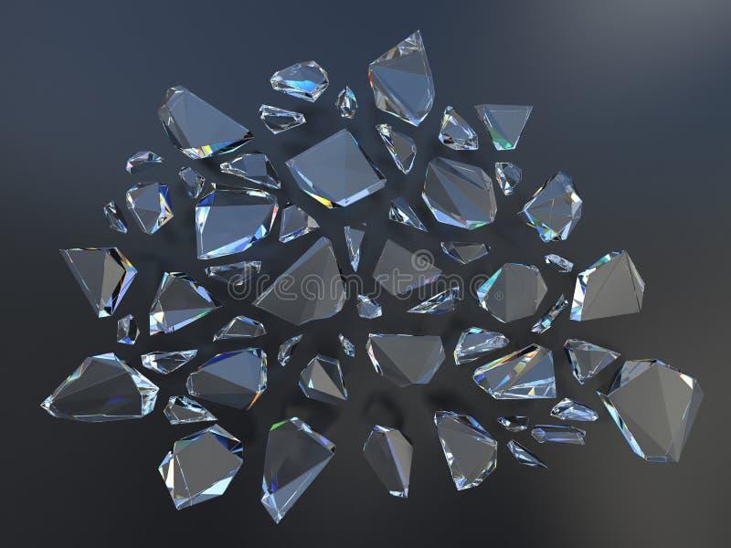 Fondo cristalino quebrado libre illustration