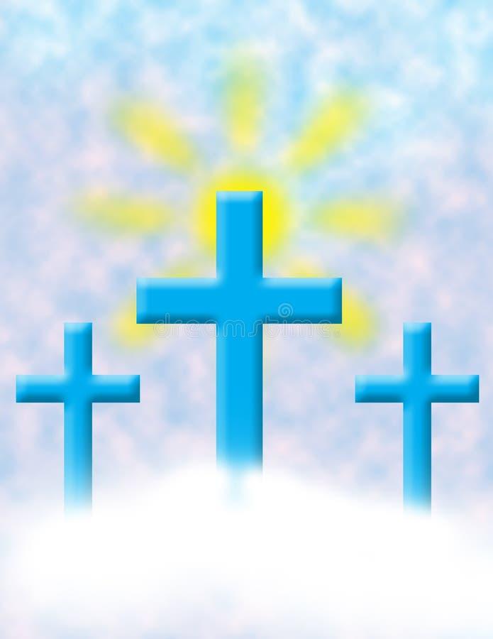 Fondo cruzado santo ilustración del vector