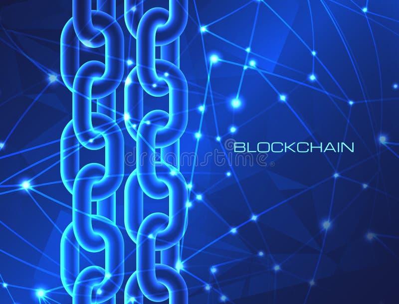 Fondo crypto de la explotación minera del dinero del bitcoin del cryptocurrency de la base de datos del concepto de la tecnología libre illustration