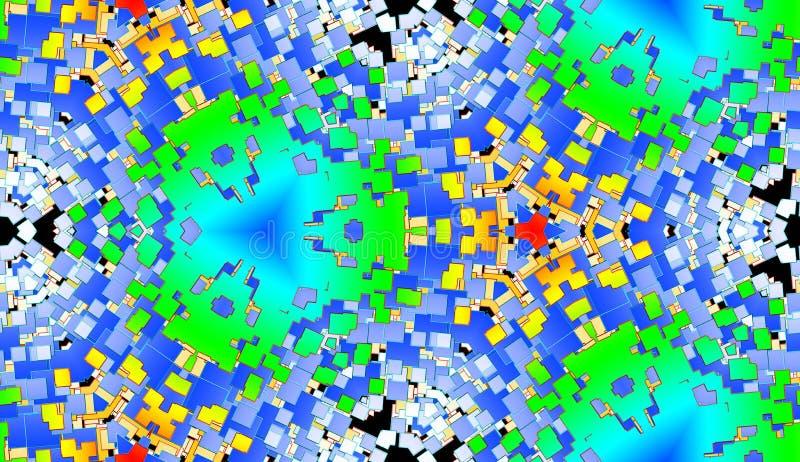 Fondo cuadrado 12 del modelo del azulejo del color ilustración del vector