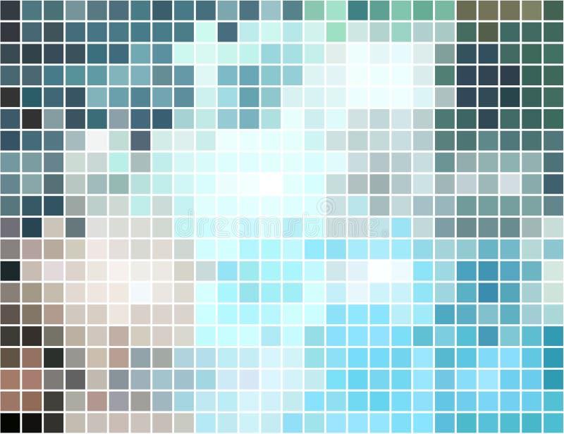 Fondo cuadrado abstracto del mosaico del pixel ilustración del vector