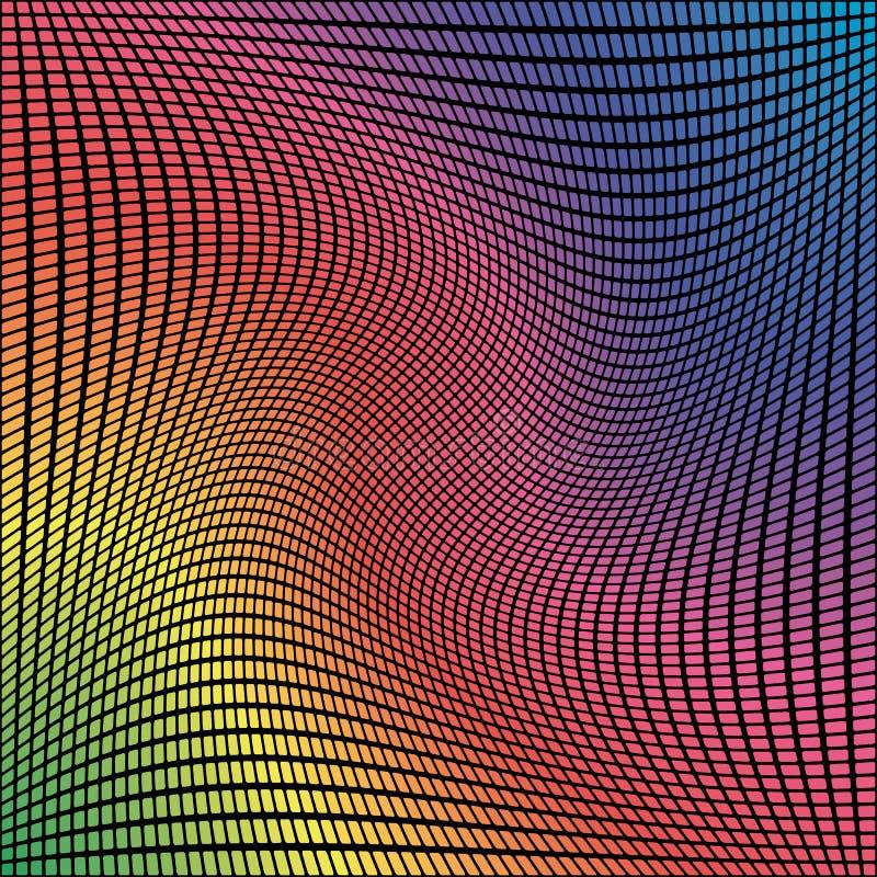 Fondo cuadrado brillante del mosaico del pixel del vector del extracto libre illustration