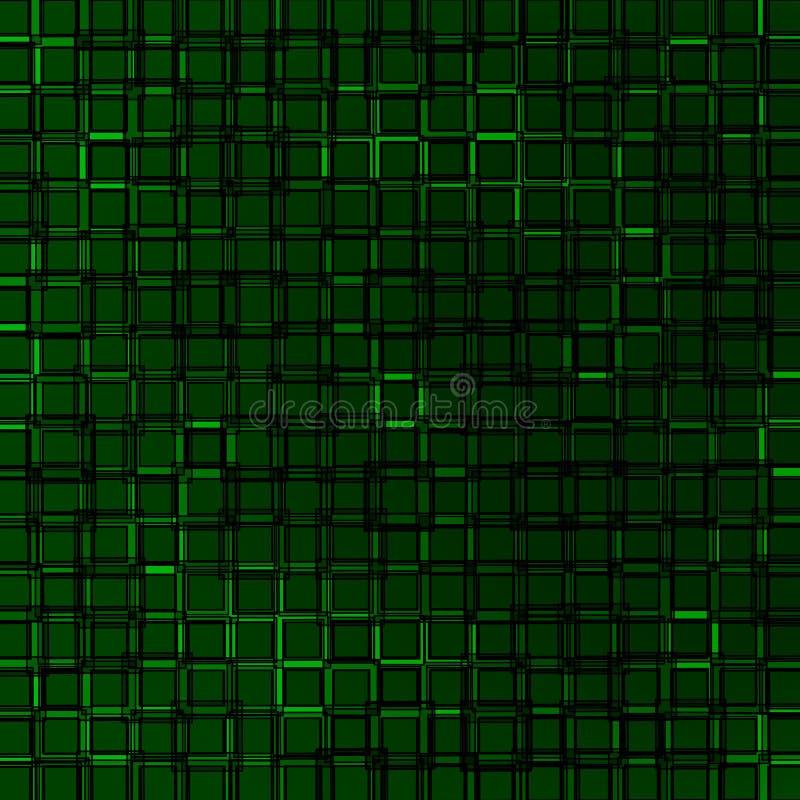 Fondo cuadrado cúbico verde, abstracción del vector stock de ilustración