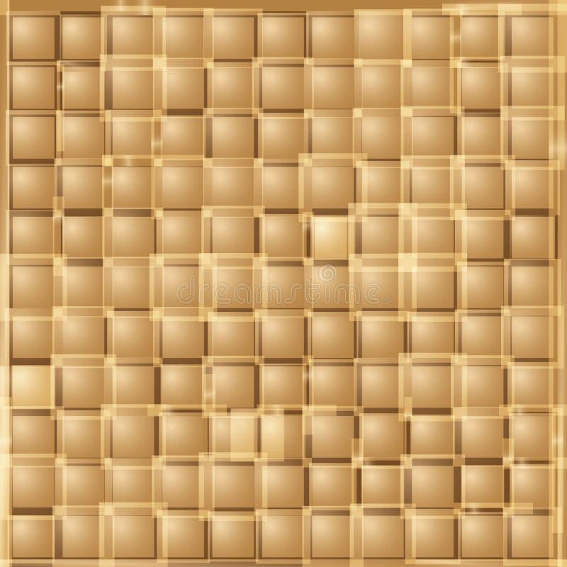 Fondo cuadrado de la pendiente abstracta del oro ilustración del vector