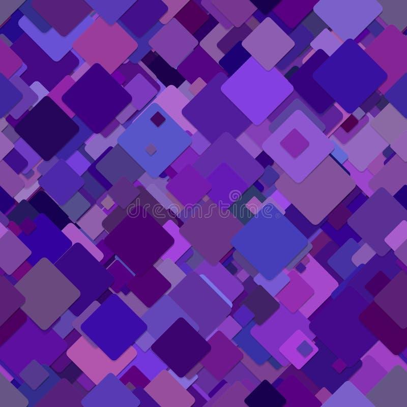 Fondo cuadrado diagonal abstracto inconsútil del modelo ilustración del vector