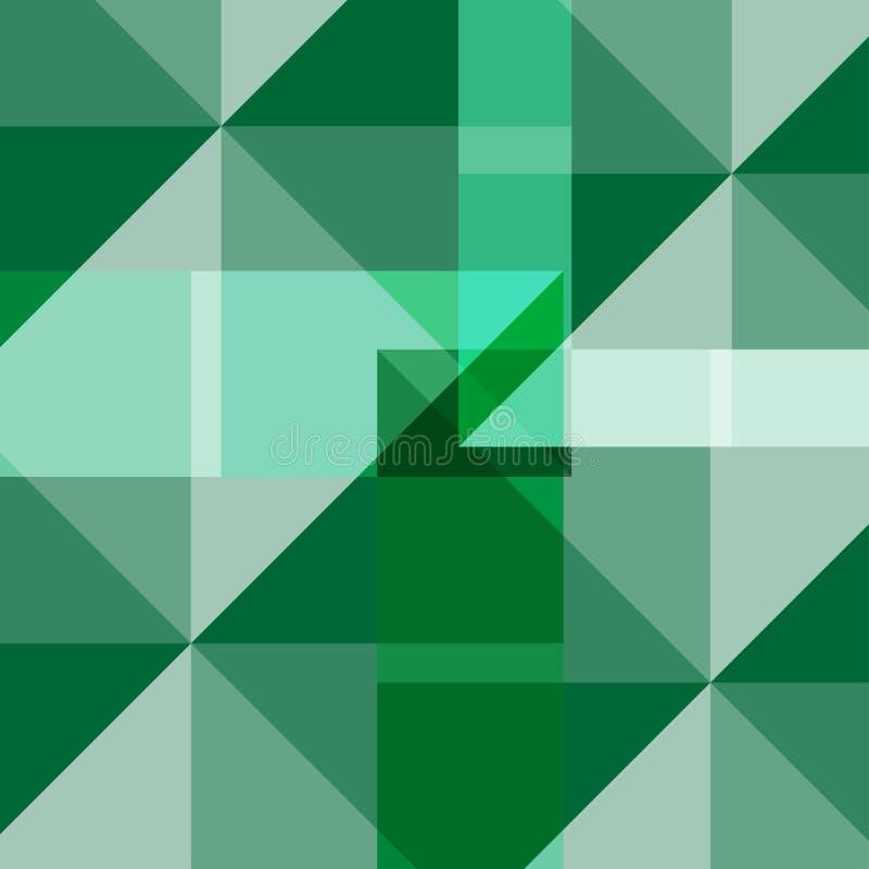 Fondo cuadrado verde abstracto imagenes de archivo