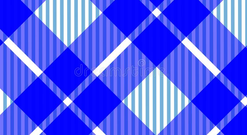 Fondo a cuadros de la guinga azul y blanca del mantel Textura f fotografía de archivo libre de regalías