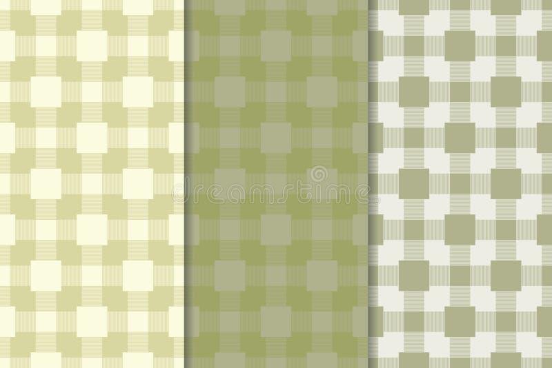 Fondo a cuadros de la tela de la tela escocesa Modelo inconsútil del verde verde oliva libre illustration