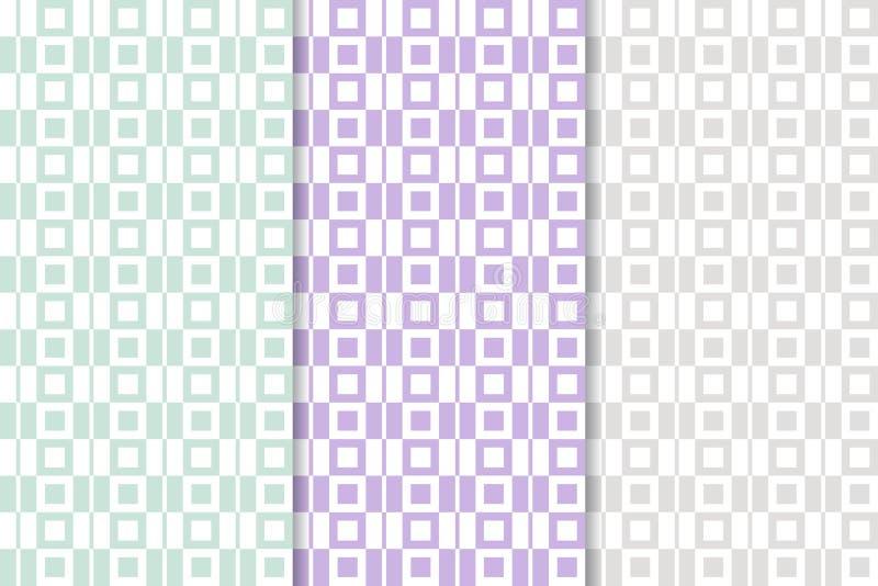 Fondo a cuadros de la tela Modelo inconsútil coloreado stock de ilustración