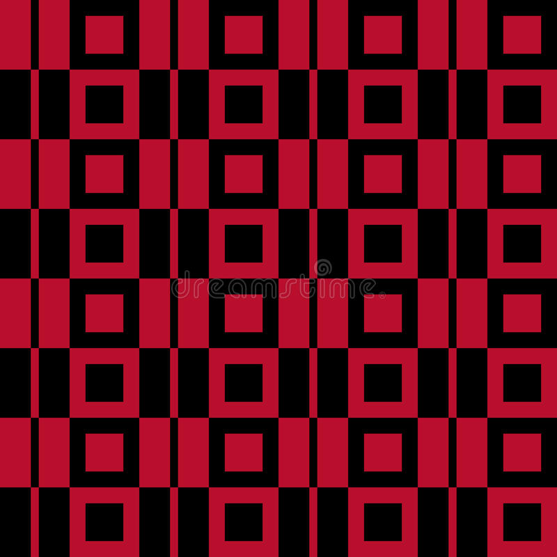 Fondo a cuadros de la tela Modelo inconsútil rojo libre illustration