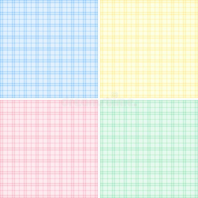 Fondo cuatro con diversas rejillas del color libre illustration