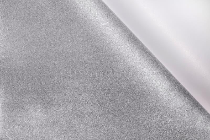 Fondo d'angolo di carta arricciato Pelatura della carta dell'autoadesivo per la vostra progettazione fotografia stock