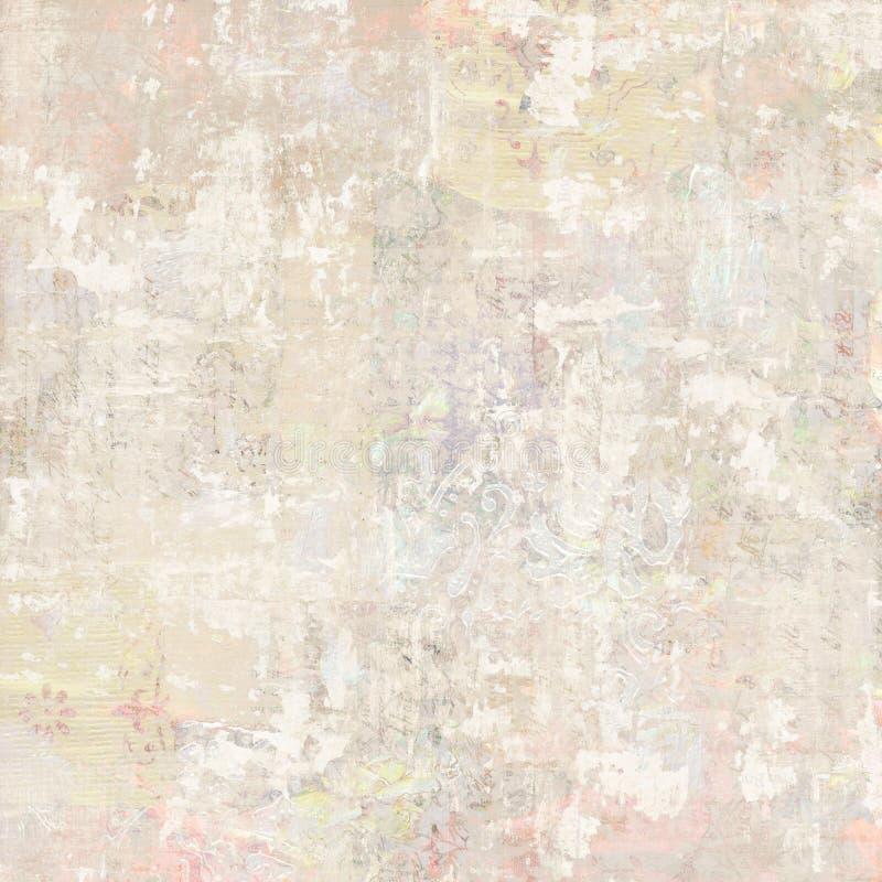 Fondo d'annata antico Grungy del collage della carta da parati floreale immagini stock