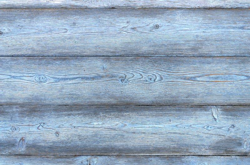 Fondo d'annata composto di plance di colore blu fotografia stock libera da diritti