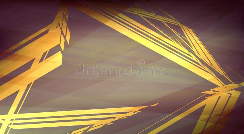 Fondo d'annata con il triangolo Grafici di vettore illustrazione vettoriale