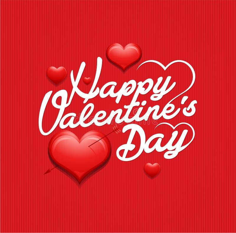 Fondo d'annata dell'iscrizione di giorno di biglietti di S. Valentino royalty illustrazione gratis