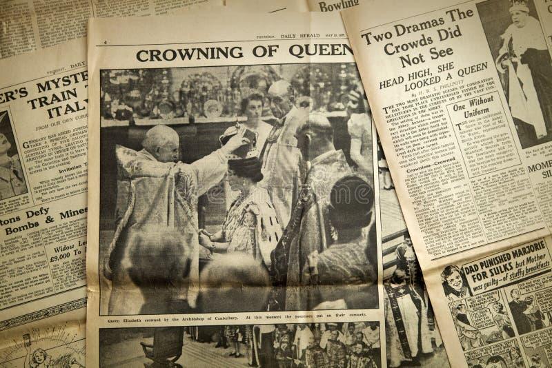 Fondo d'annata della carta di notizie, Londra fotografie stock