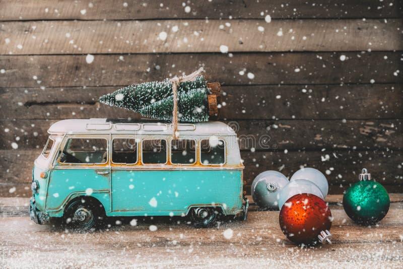 Fondo d'annata della cartolina di Buon Natale immagini stock libere da diritti