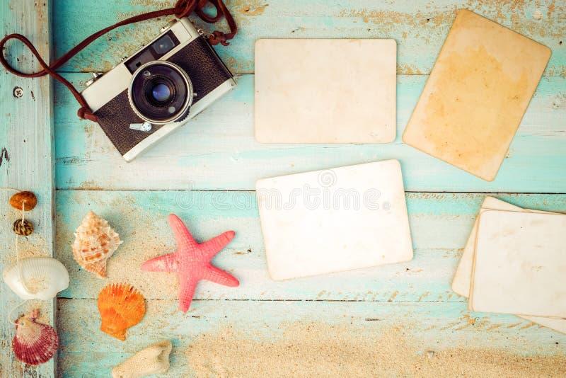 Fondo d'annata della spiaggia di estate immagine stock libera da diritti