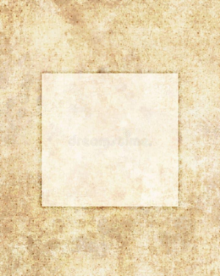 Fondo d'annata della struttura di vecchio lerciume di carta retro illustrazione vettoriale