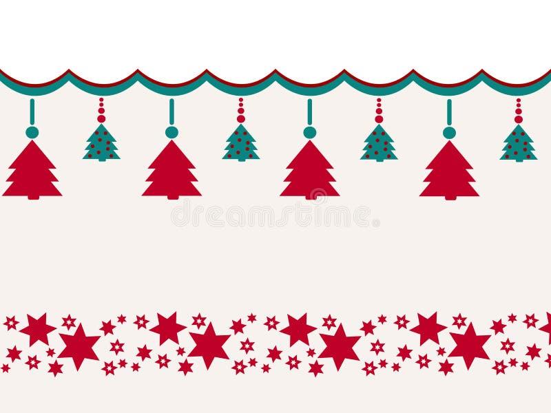 Fondo d'annata di Buon Natale con le stelle Retro disegno royalty illustrazione gratis