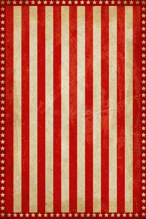 Fondo d'annata di carnevale del circo con le strisce e le stelle royalty illustrazione gratis