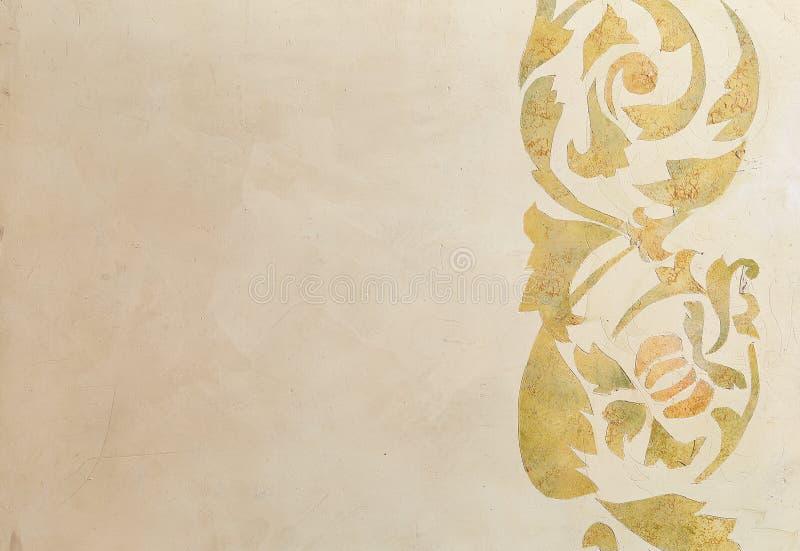 Fondo d'annata di struttura della parete Stucco di Abstact Struttura di gesso con il modello decorativo sulla parete fotografie stock
