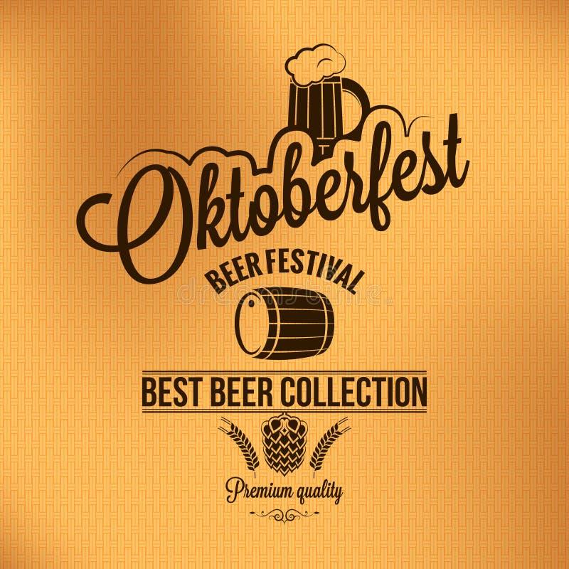 Fondo d'annata di vettore del manifesto di Oktoberfest illustrazione vettoriale