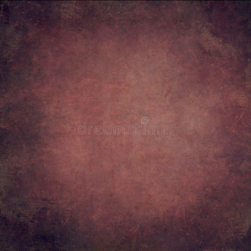Fondo d'annata dipinto a mano rosso astratto fotografia stock libera da diritti