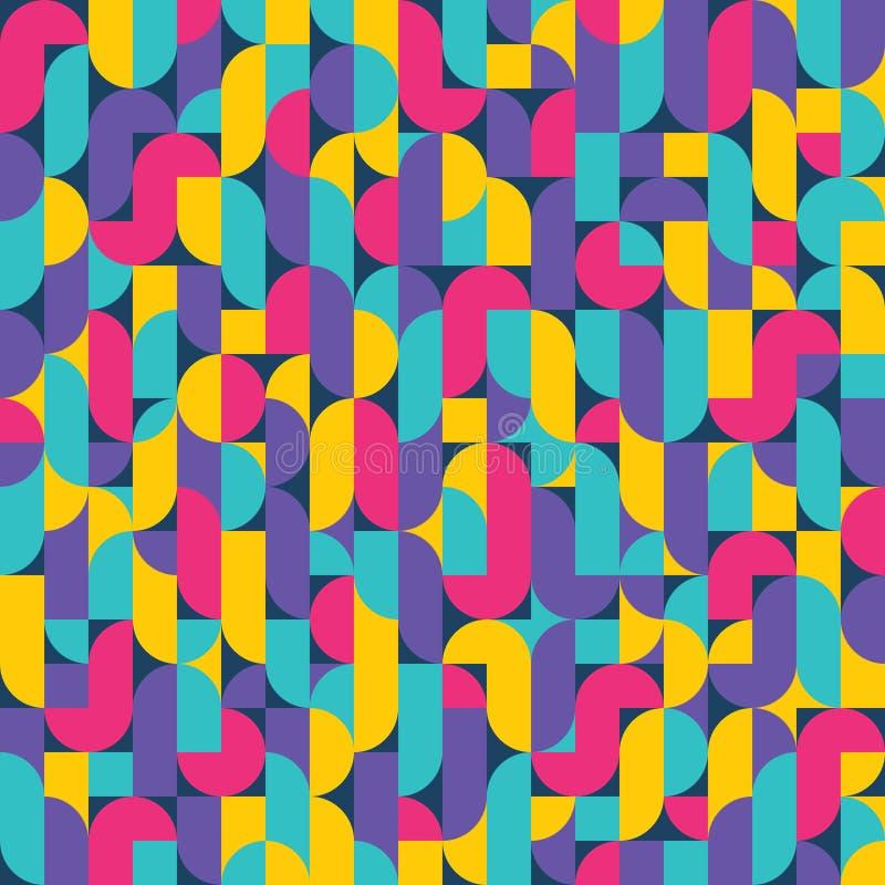 Fondo d'annata geometrico 07 illustrazione di stock