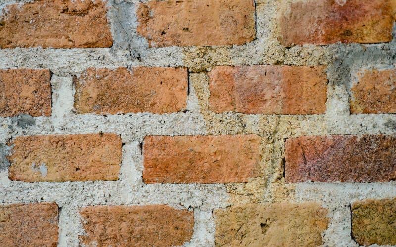 Fondo d'annata marrone-rosso della parete del cemento e del mattone fotografia stock