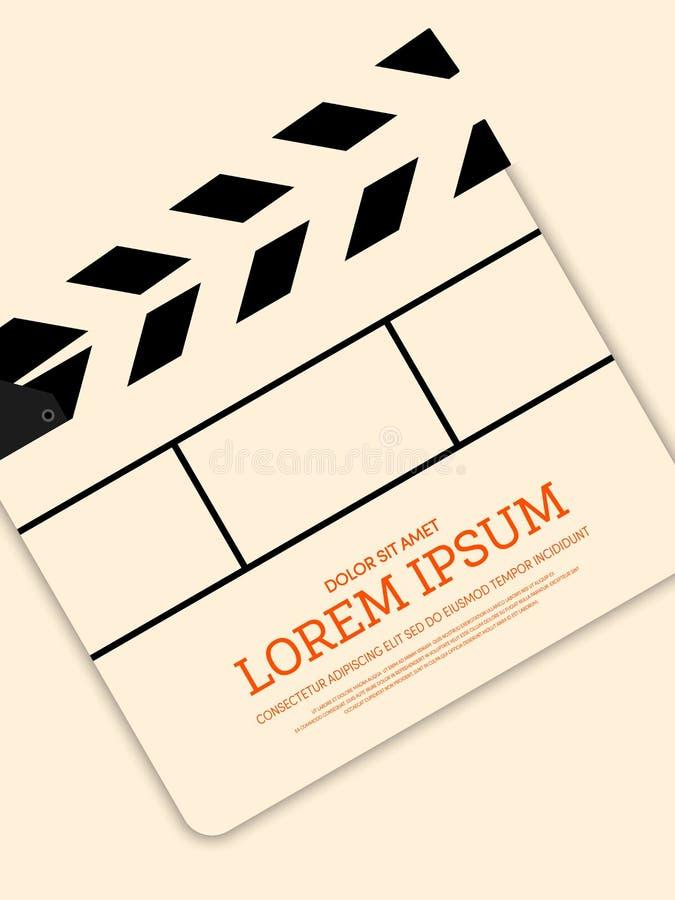 Fondo d'annata moderno del manifesto del film e di film retro illustrazione vettoriale