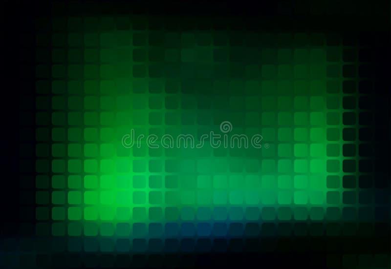 Fondo d'ardore del mosaico arrotondato estratto verde al neon illustrazione vettoriale
