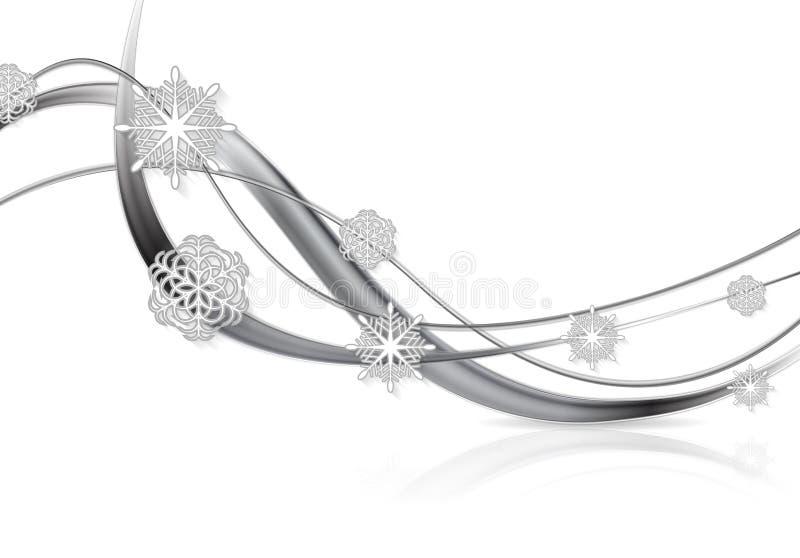 Fondo d'argento di Natale dell'estratto del metallo illustrazione di stock